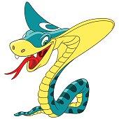 Cartoon cobra snake