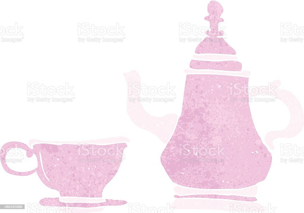 cartoon coffee pot and cup royalty-free stock vector art