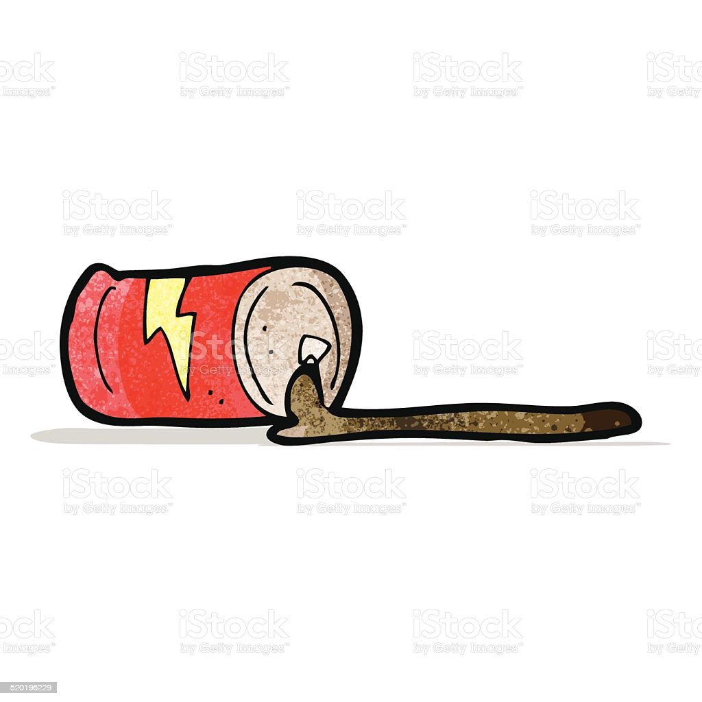 cartoon cola can vector art illustration