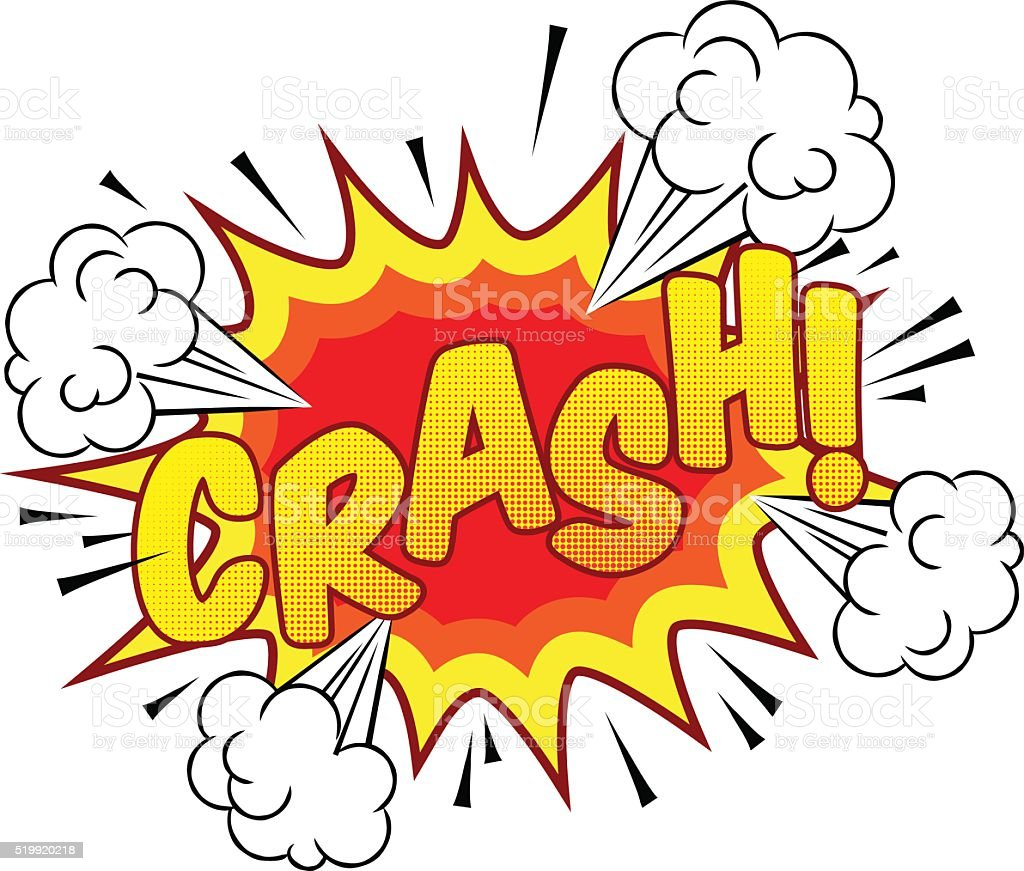 Cartoon Comic Book Crash Explosion Sound Effect vector art illustration