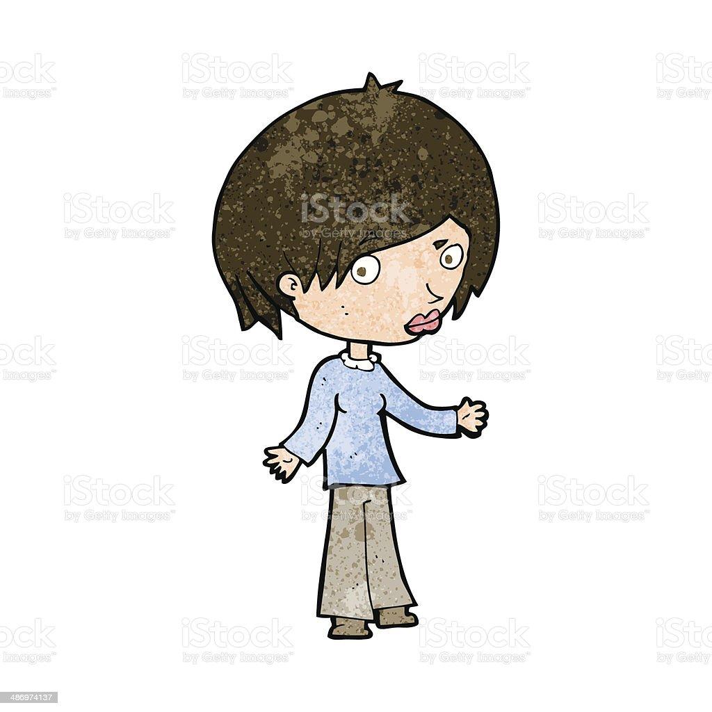 cartoon confused woman royalty-free stock vector art