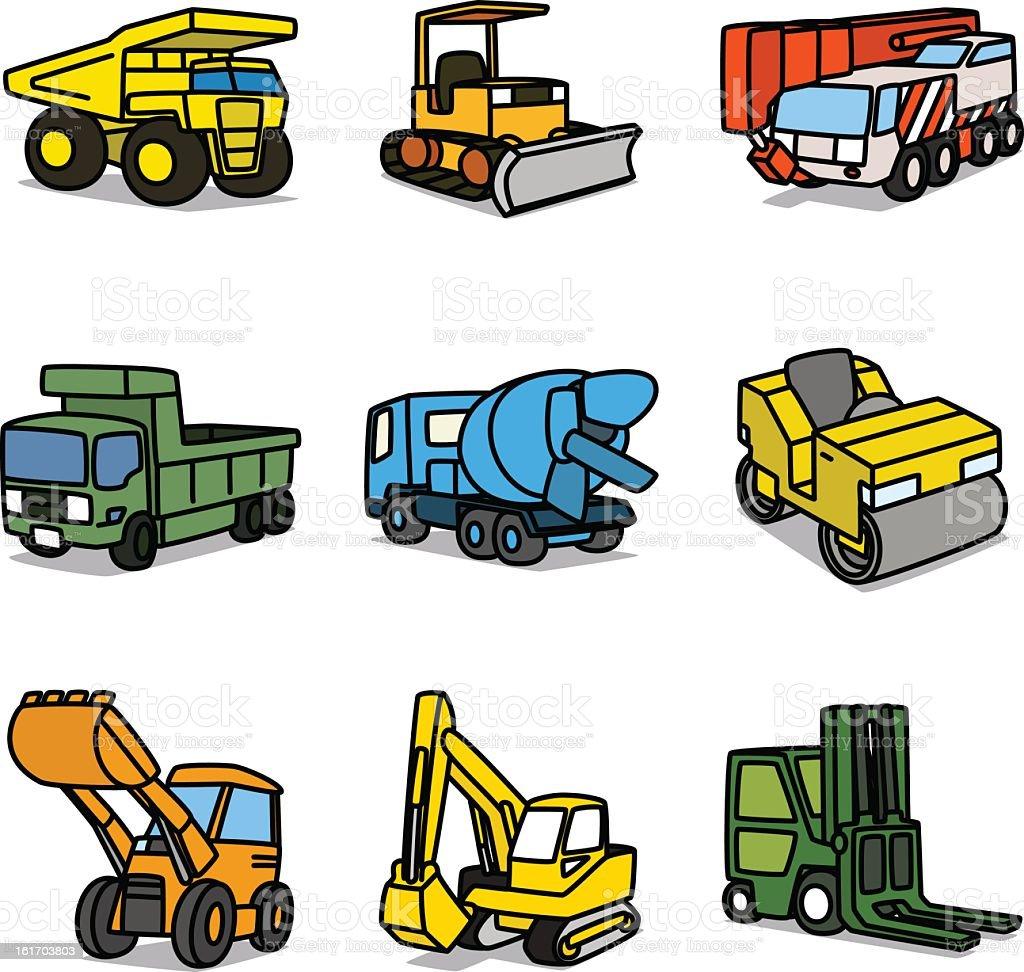 cartoon construction cars stock vector art 161703803 istock