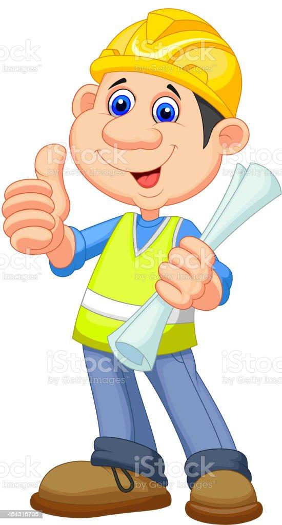Bauarbeiter bei der arbeit comic  Comic Bauarbeiter Handwerker Vektor Illustration 464316705 | iStock