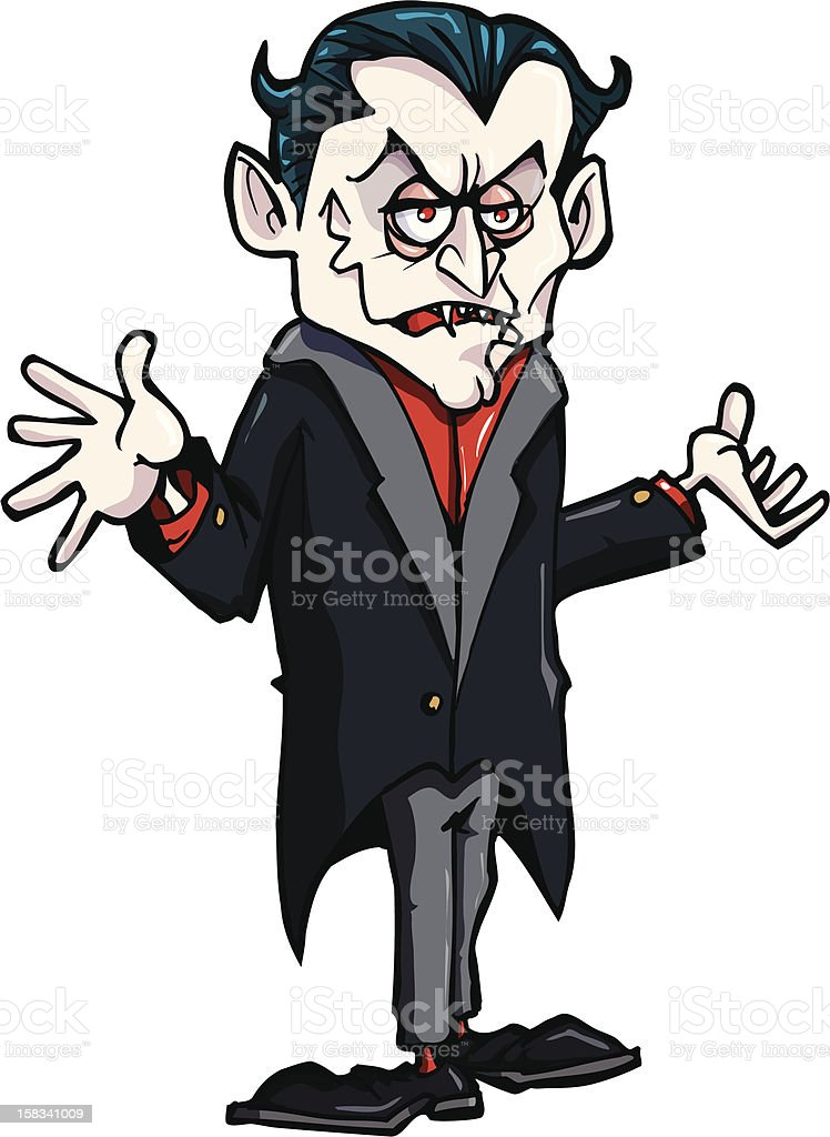 Cartoon Count  Dracula royalty-free stock vector art