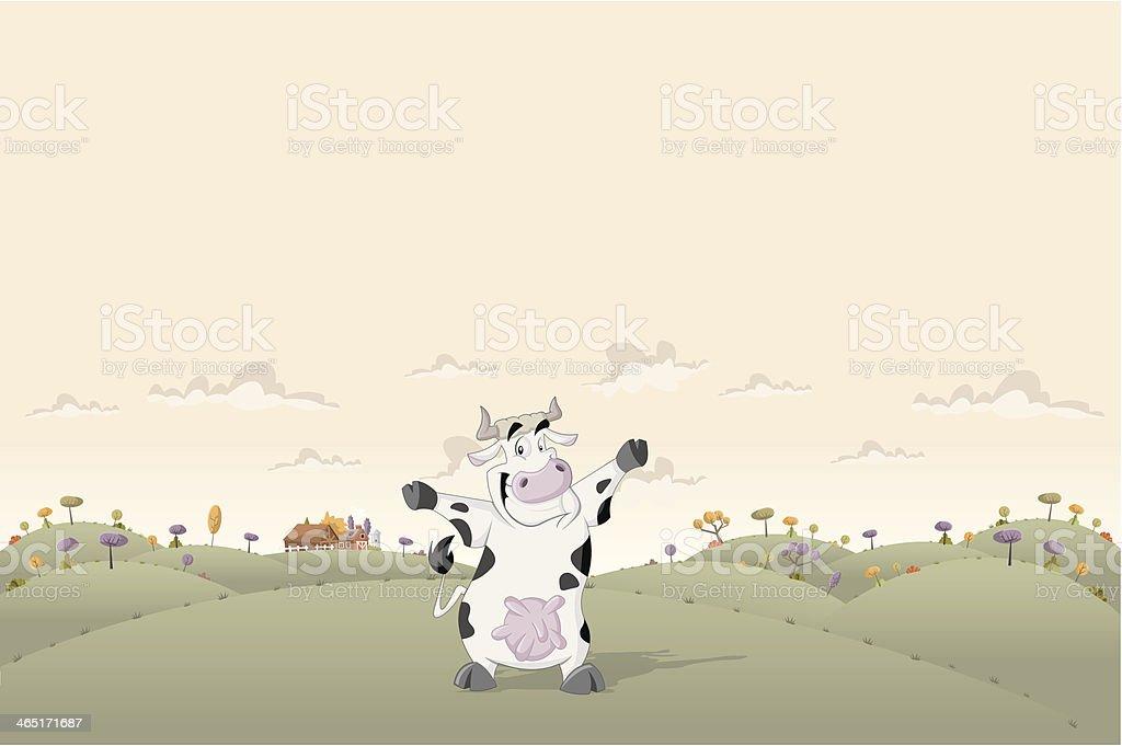 Cartoon cow royalty-free stock vector art