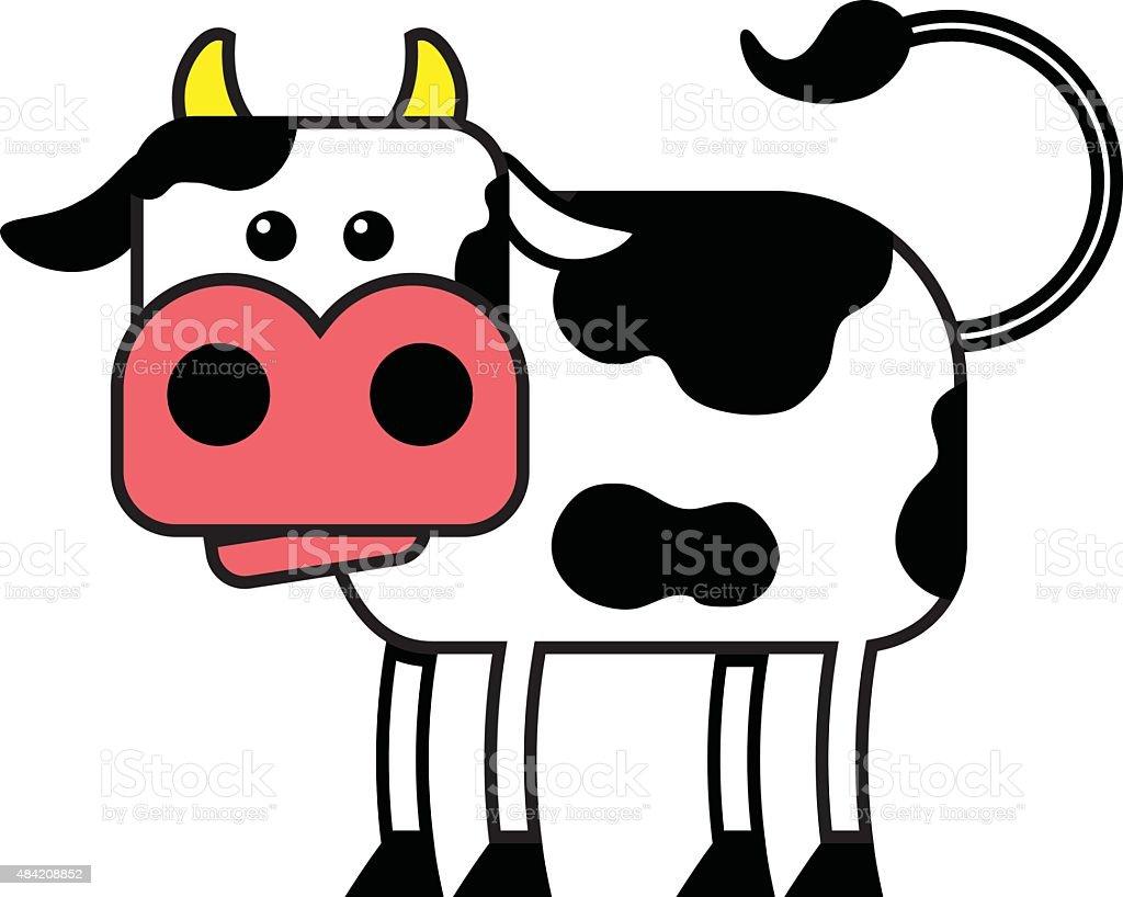 Cartoon Cow vector art illustration