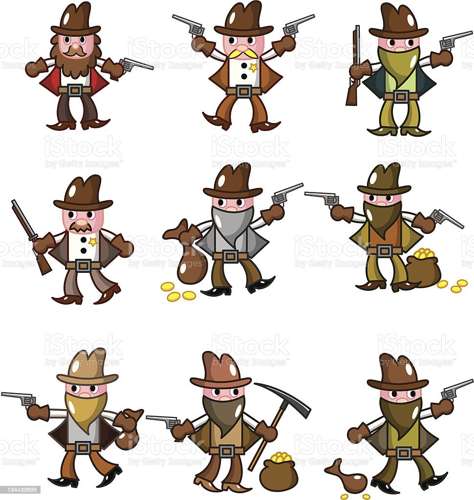 cartoon cowboy royalty-free stock vector art