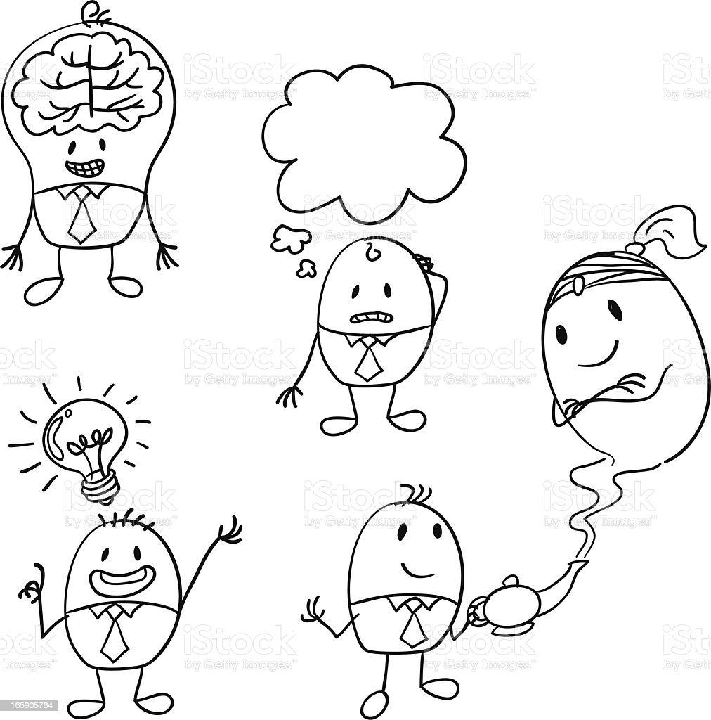 Cartoon creative businessman illustration royalty-free stock vector art