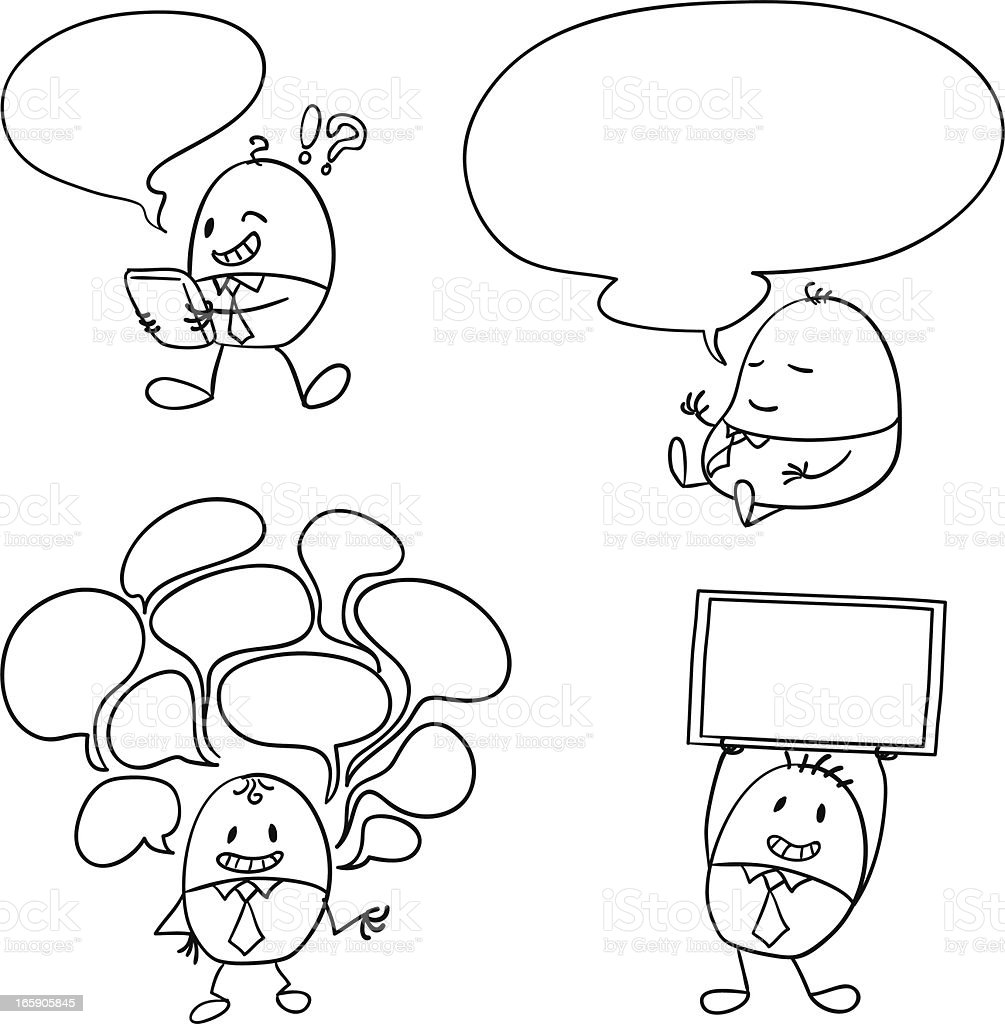 Cartoon creative businessman illustration vector art illustration