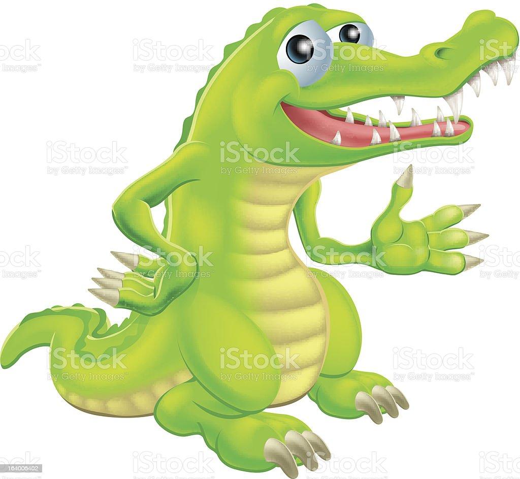 Cartoon Crocodile Illustration royalty-free stock vector art