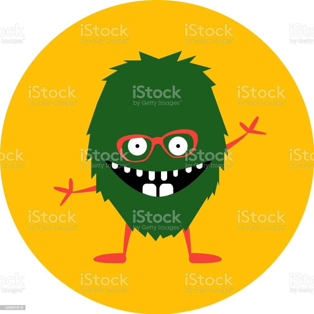 Cartoon cute monster alien. Vector illustration vector art illustration