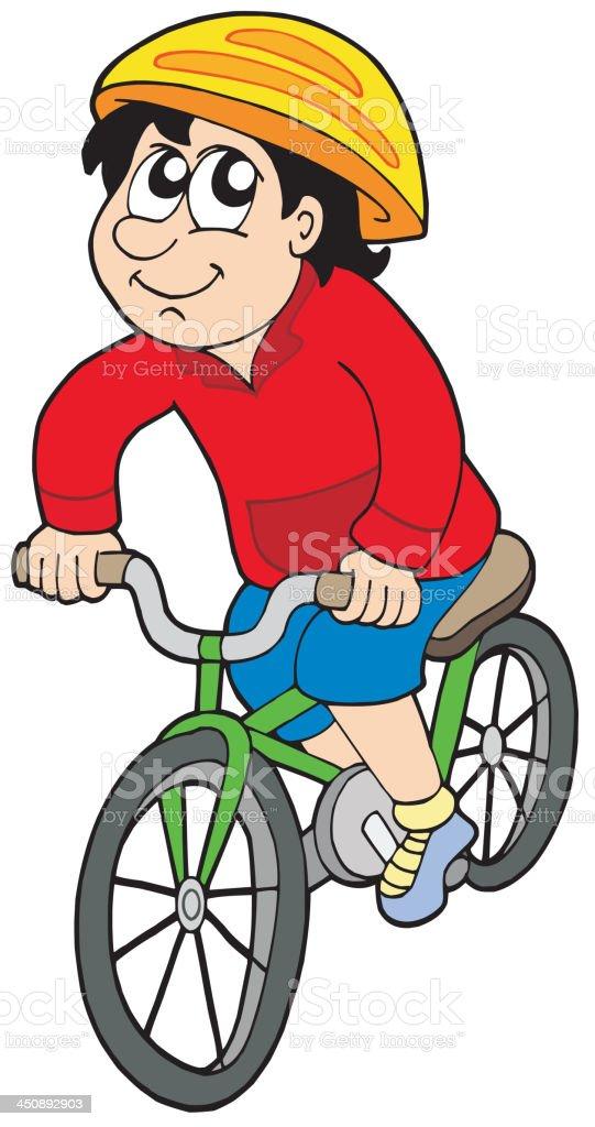 Cartoon cyclist royalty-free stock vector art