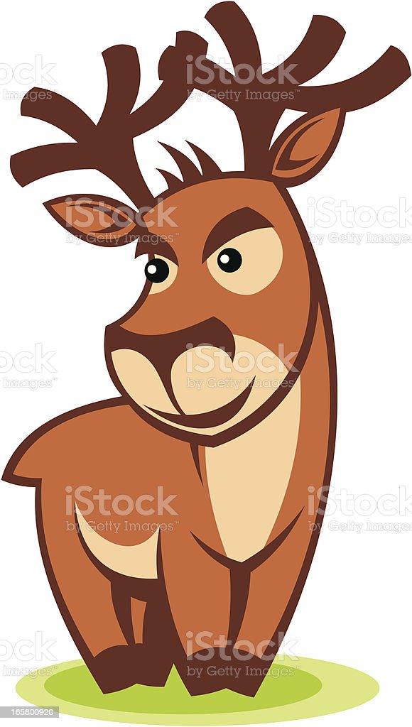 Cartoon deer royalty-free stock vector art