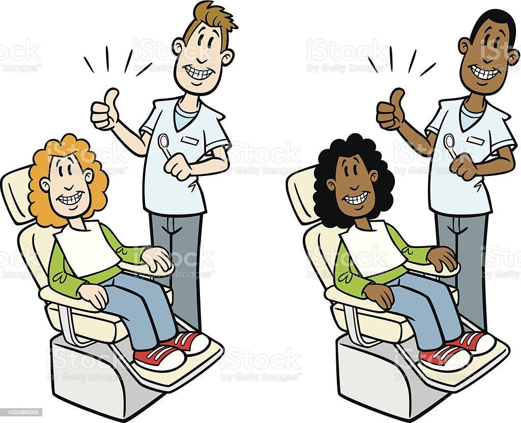 Cartoon Dentist With Child royalty-free stock vector art