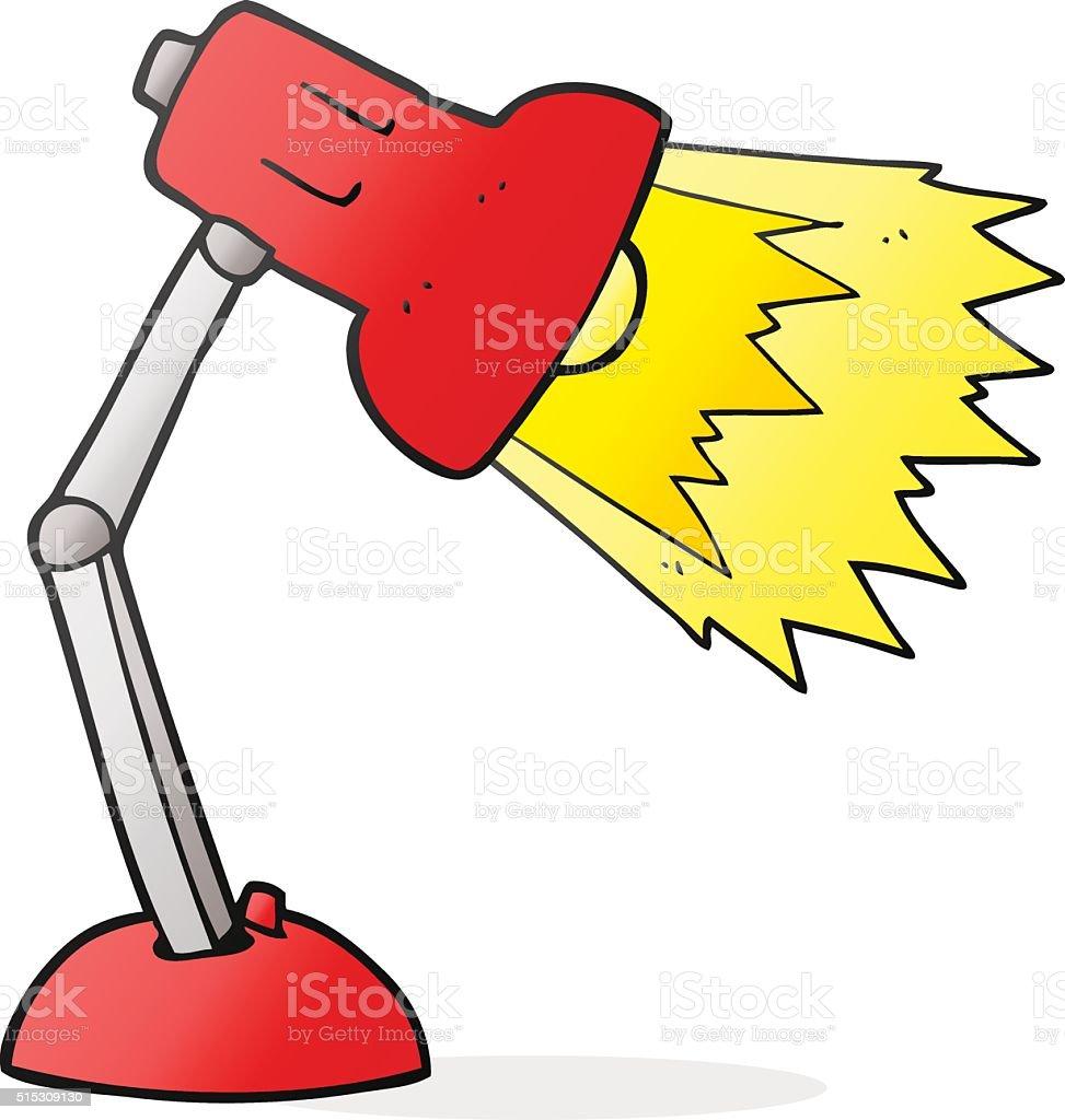 Schreibtischlampe clipart  Comic Schreibtisch Schreibtischlampe Vektor Illustration 515309130 ...