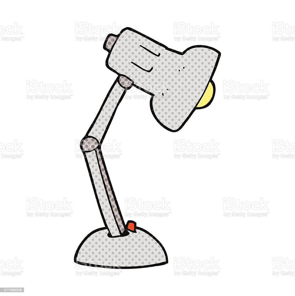 Schreibtischlampe clipart  Comic Schreibtisch Schreibtischlampe Vektor Illustration 517630338 ...