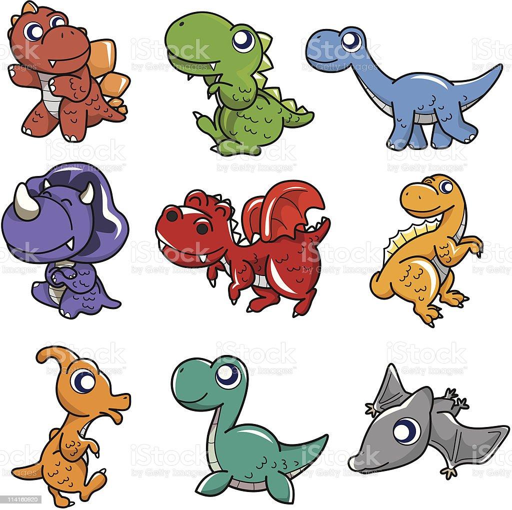 cartoon dinosaur icon royalty-free stock vector art