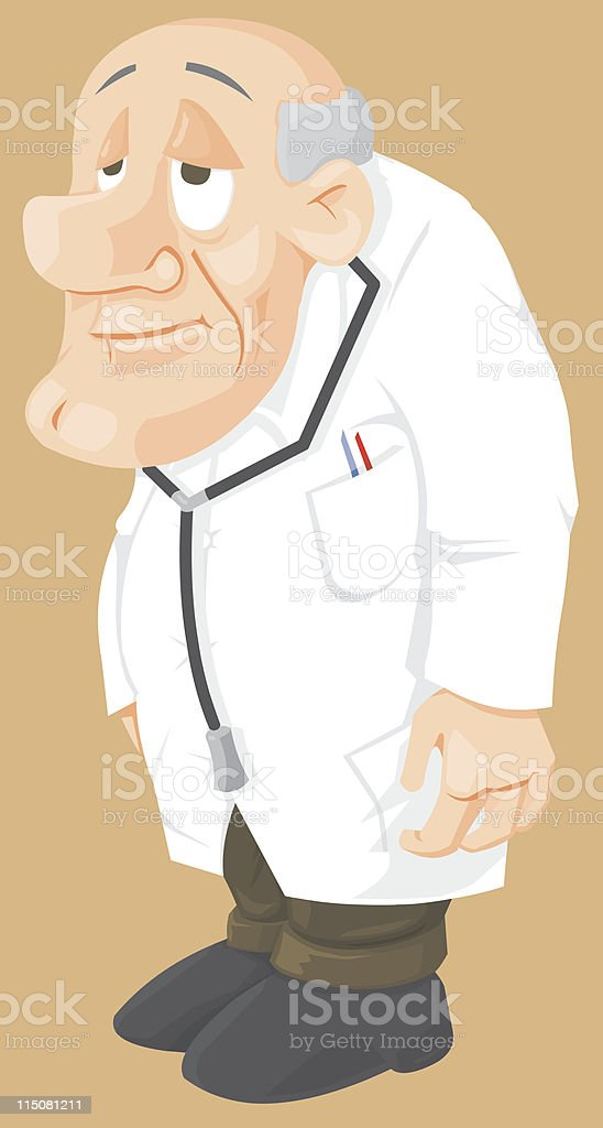 Cartoon Doctor vector art illustration