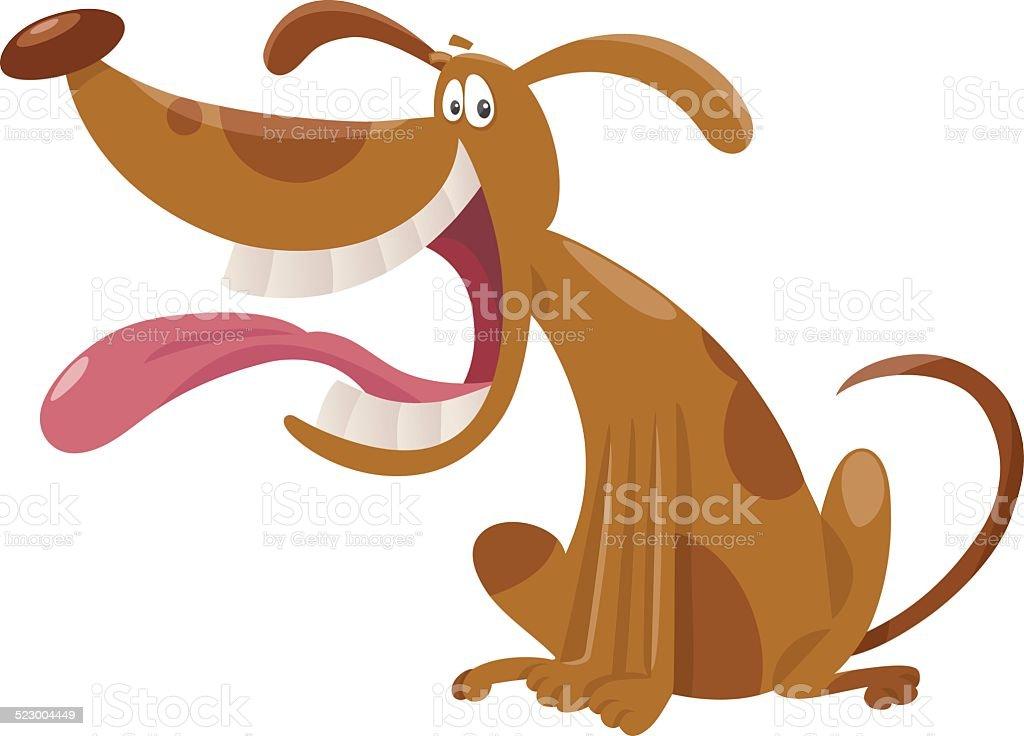 cartoon dog cartoon illustration vector art illustration