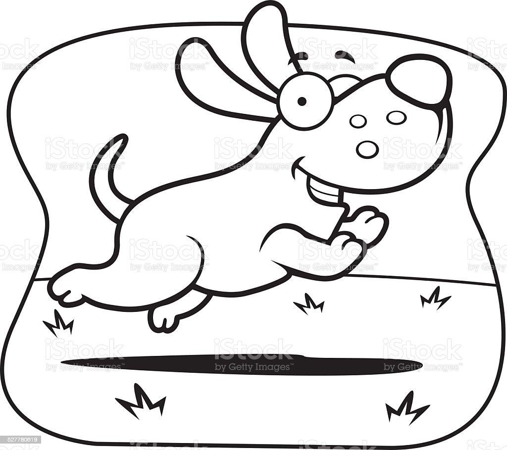 Cartoon Dog Jumping Royaltyfree Stock Vector Art How To Draw
