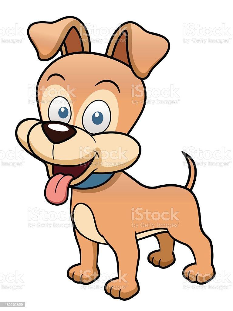 Cartoon Dog vector art illustration