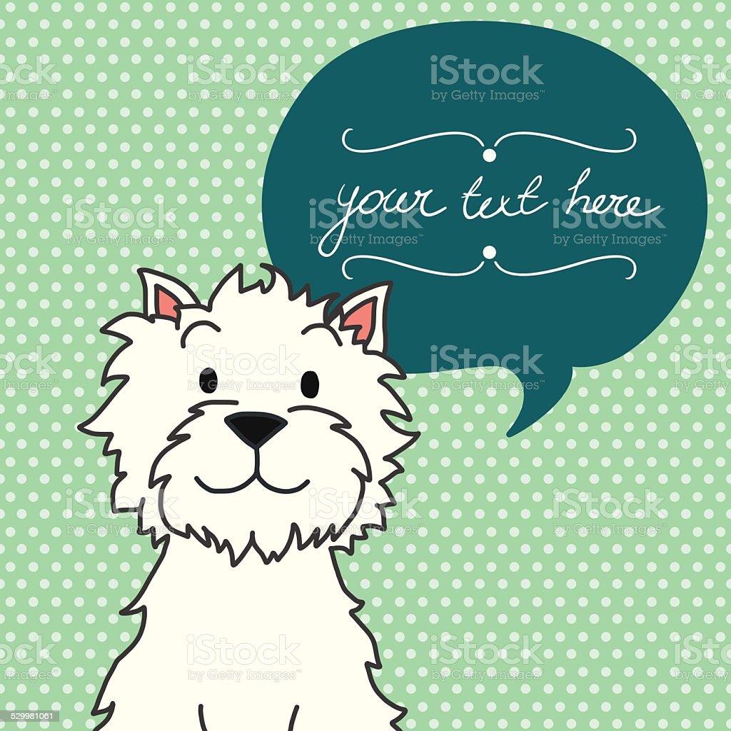Cartoon dog. vector art illustration