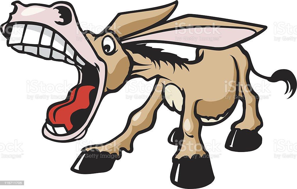 Cartoon Donkey royalty-free stock vector art