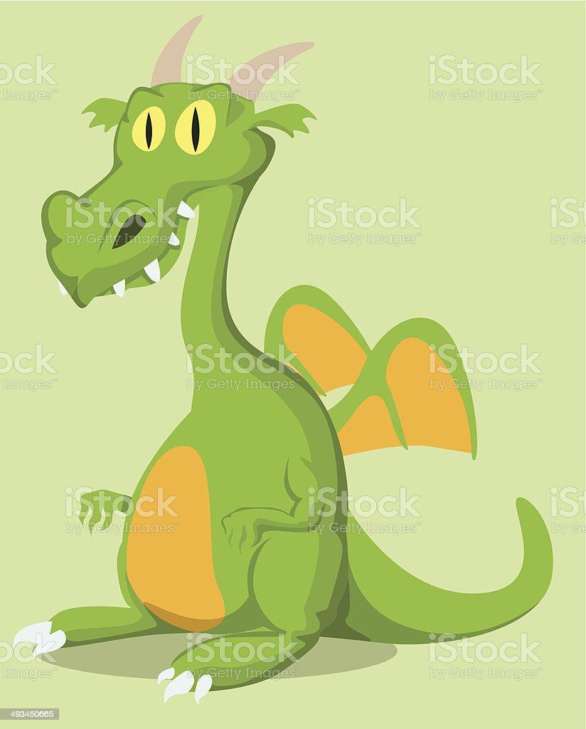 Dragon Dessin animé stock vecteur libres de droits libre de droits