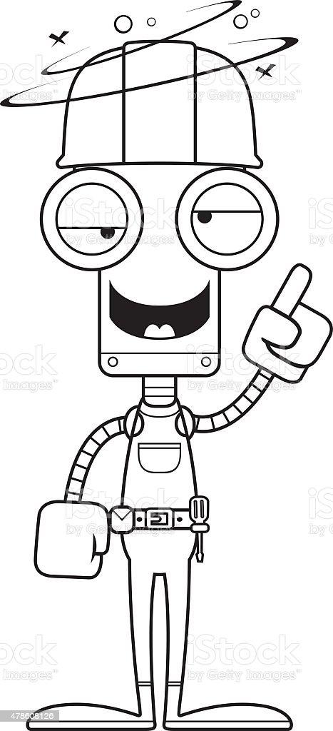 Bauarbeiter bei der arbeit comic  Comic Betrunken Bauarbeiter Roboter Vektor Illustration 478608126 ...