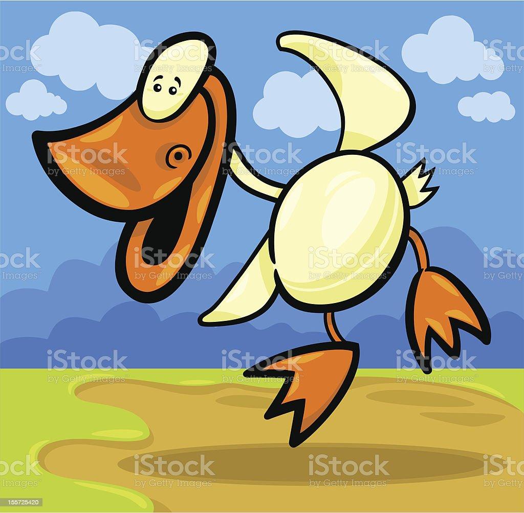 cartoon duck or duckling royalty-free stock vector art