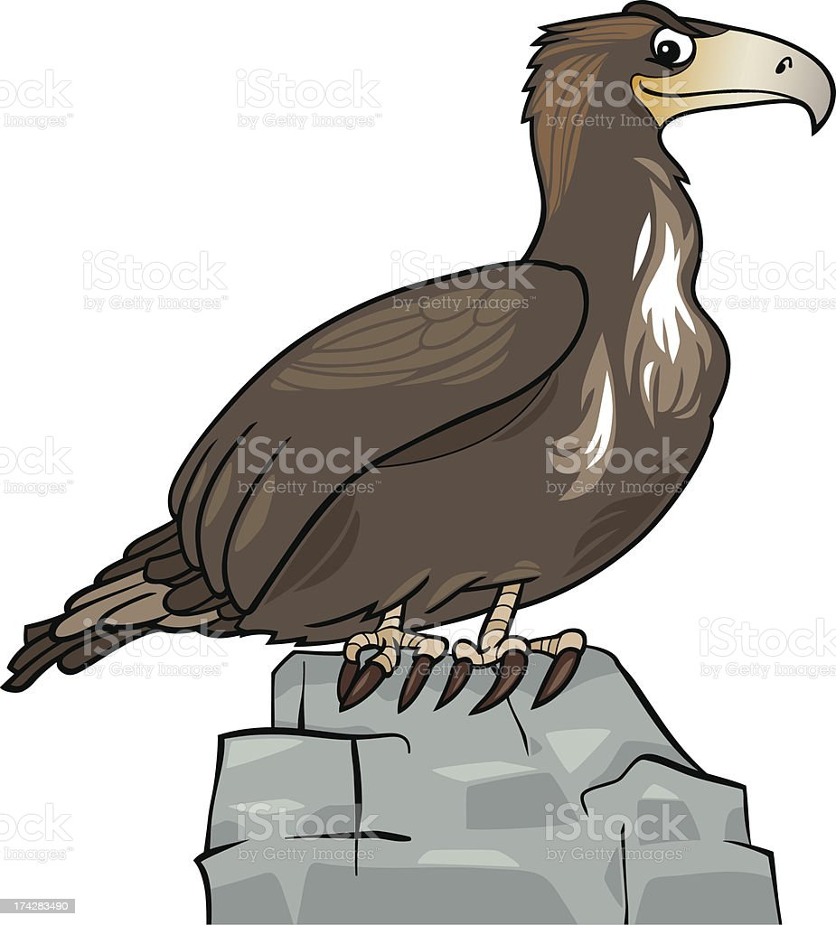 cartoon eagle wild bird royalty-free stock vector art