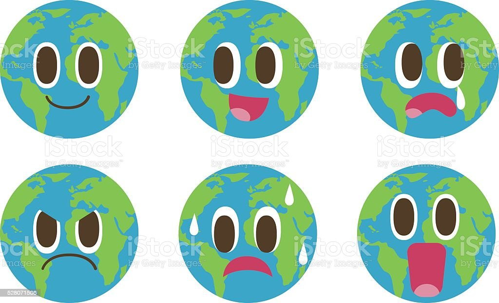 Cartoon Earth vector art illustration