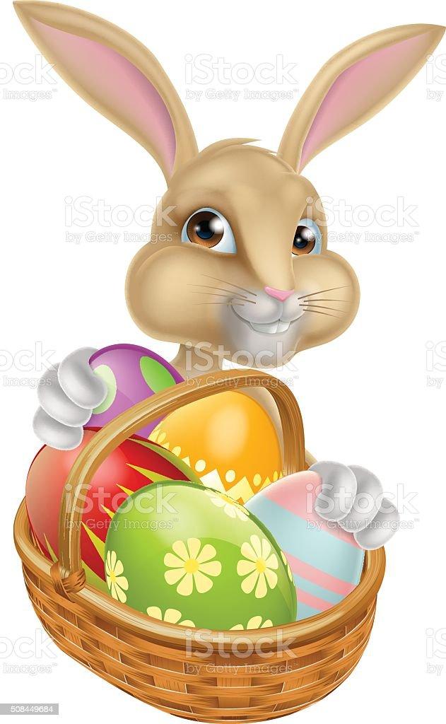 Cartoon Easter Bunny Rabbit vector art illustration