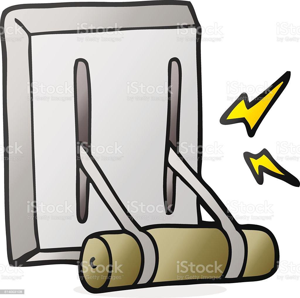 Cartoon Lever Switch : Cartoon electrical switch stock vector art istock