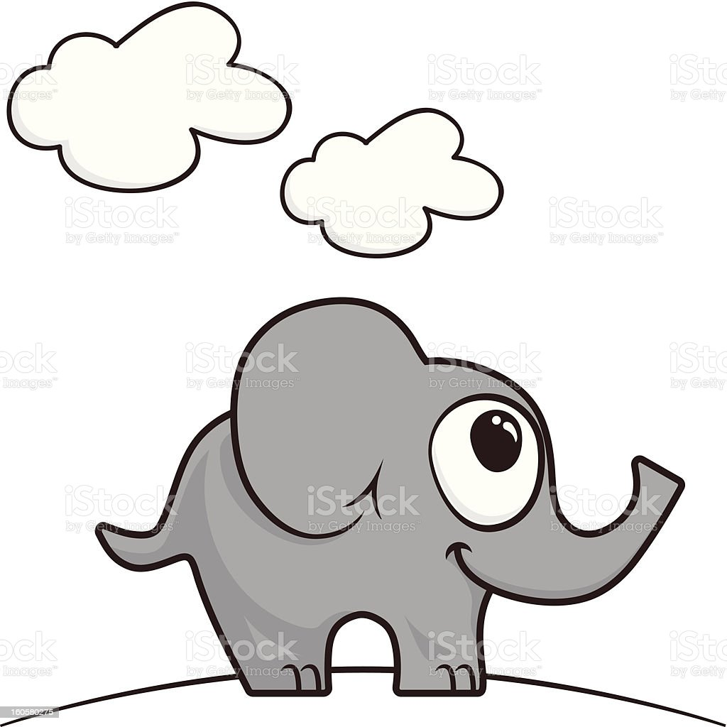 Cartoon elephant royalty-free stock vector art