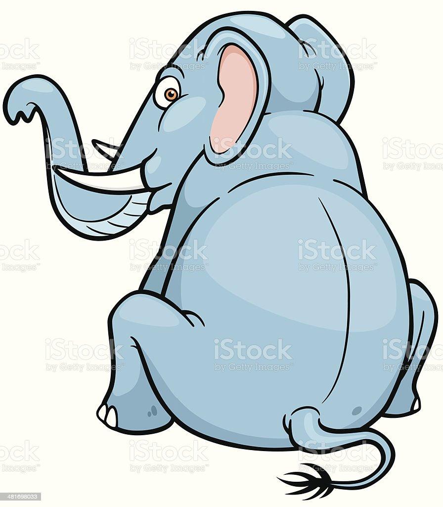 Cartoon Elephant royalty-free stock vector art