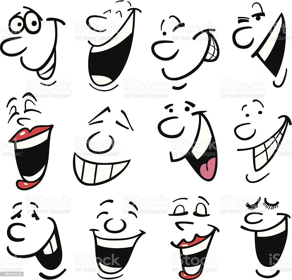 Cartoon emotions illustration vector art illustration