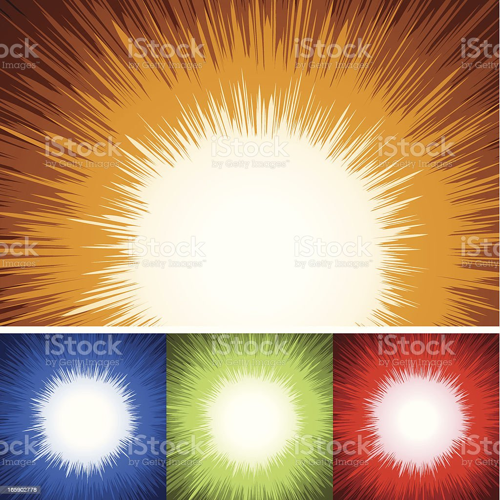Cartoon Explosion Background royalty-free stock vector art