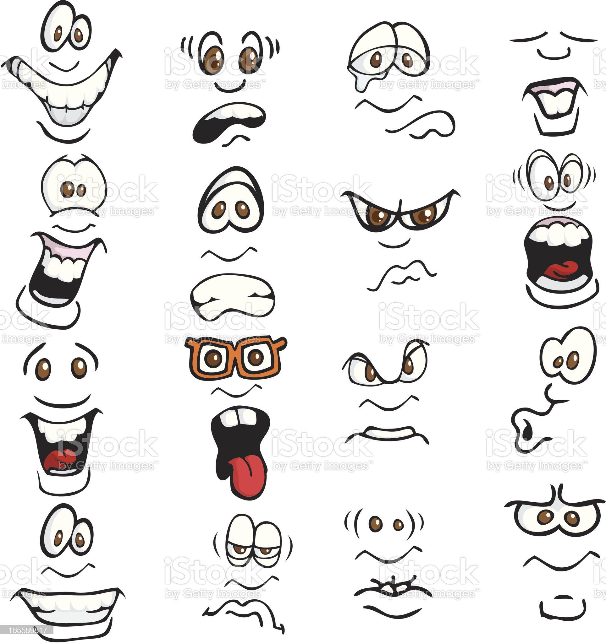 Cartoon Expressions royalty-free stock vector art