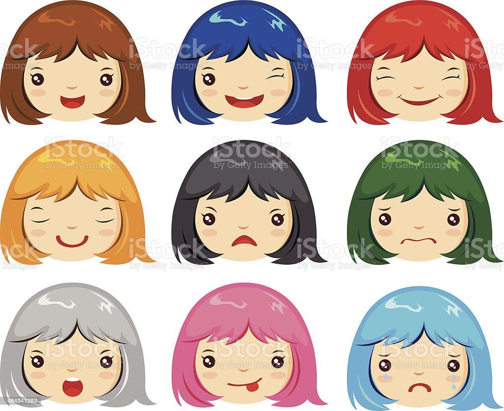 cartoon face emotions royalty-free stock vector art