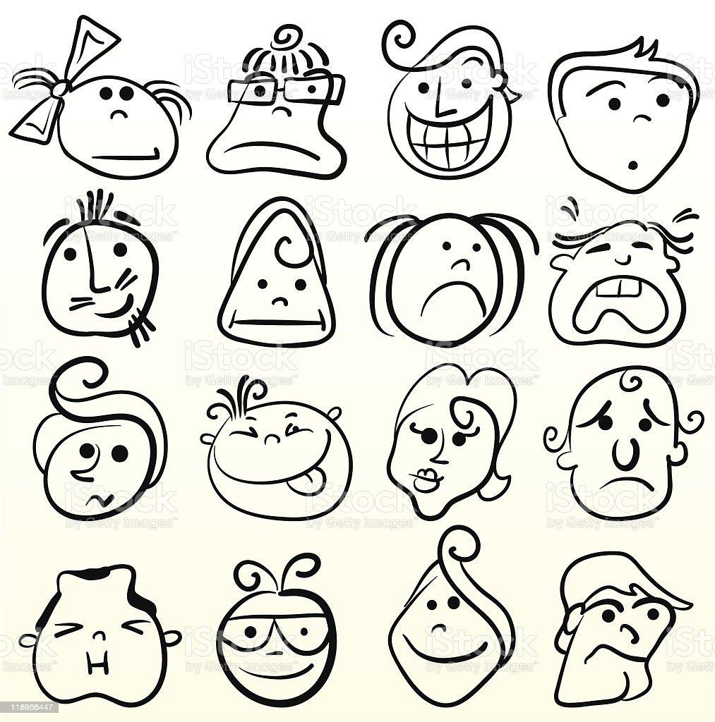 cartoon facial expressions royalty-free stock vector art