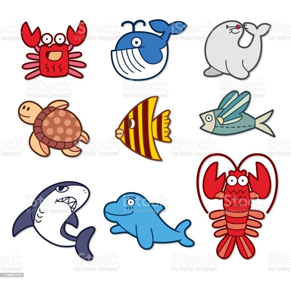 cartoon fish royalty-free stock vector art