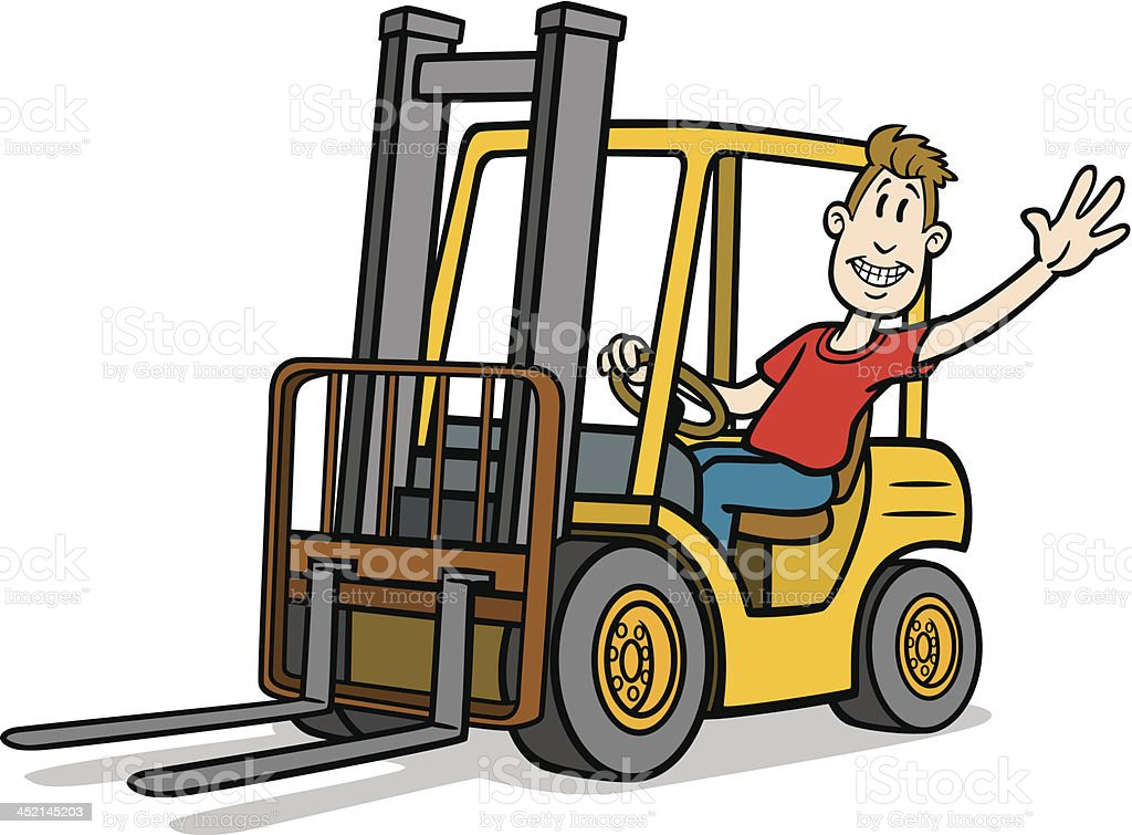 Image result for funny cartoon forklift worker clipart