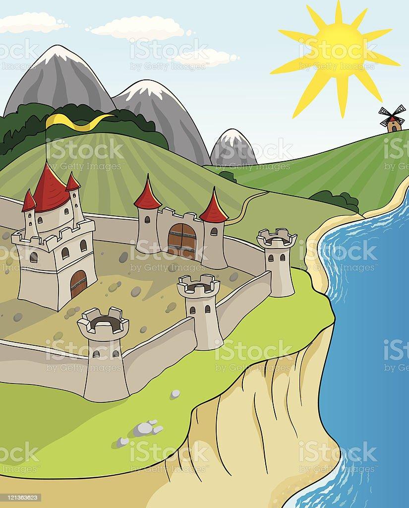 Cartoon fortress royalty-free stock vector art