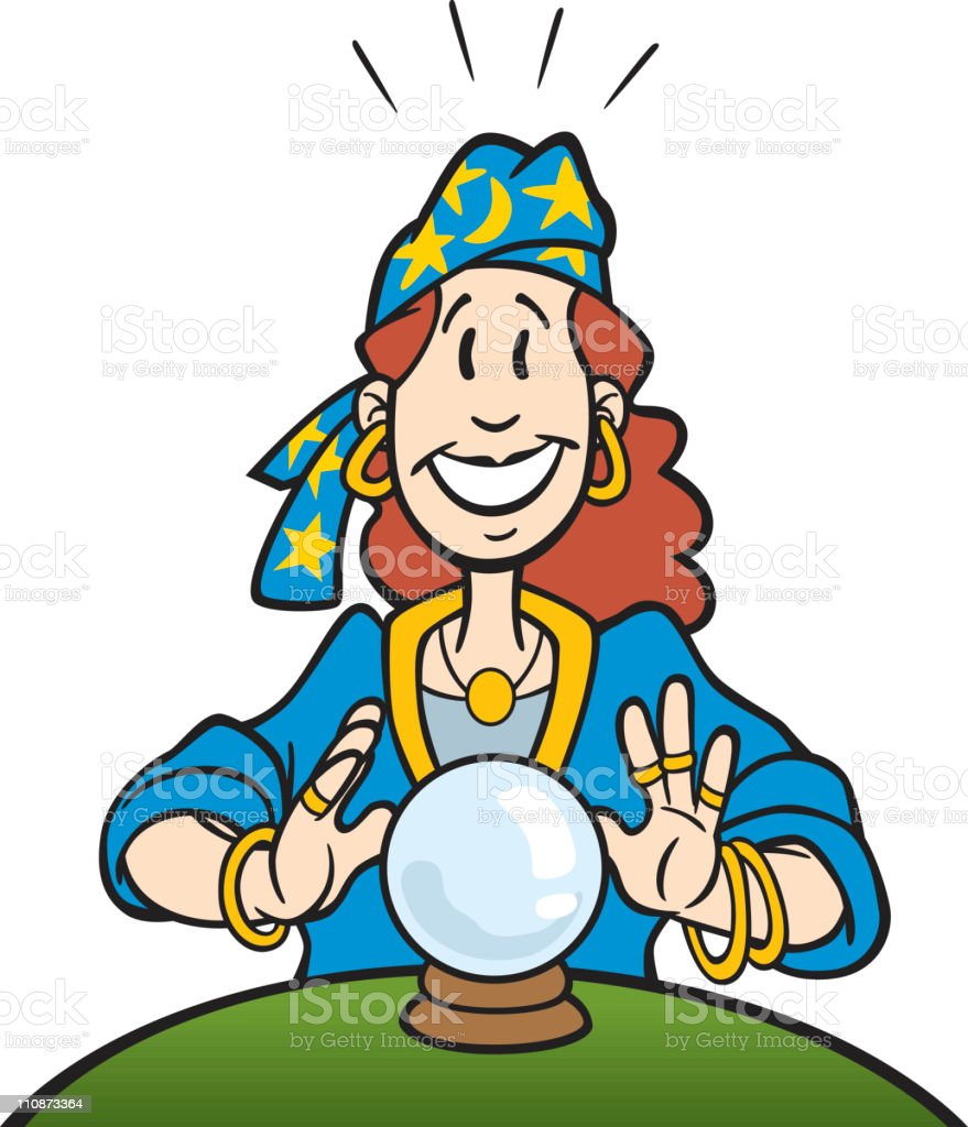 Fortune Teller With Crystal Ball Clip Art, Vector Images ...