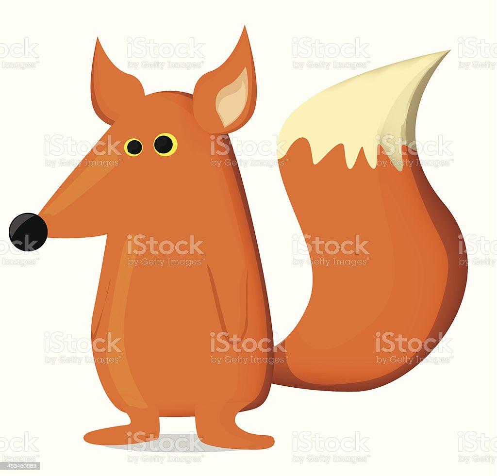 Dessin de fox stock vecteur libres de droits libre de droits