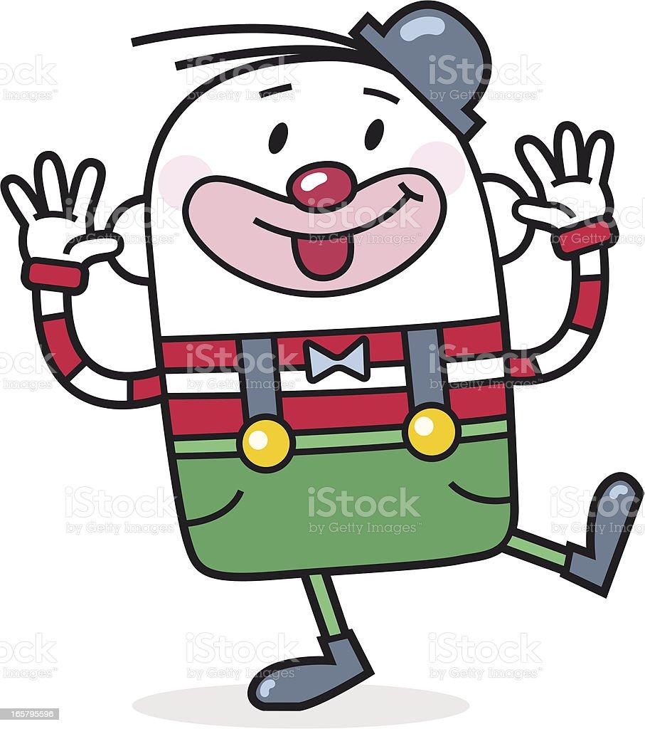 cartoon / funny clown makes jokes royalty-free stock vector art