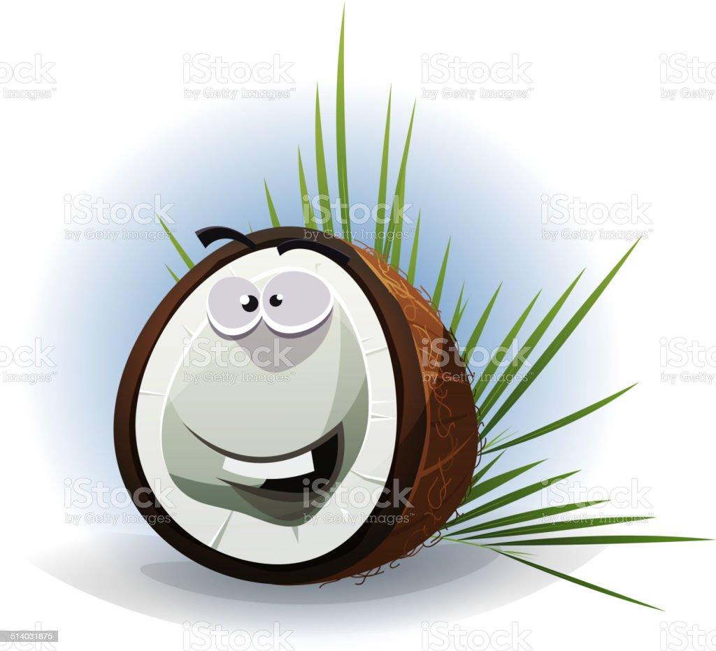 Personnage de dessin anim dr le de noix de coco stock - Dessin noix de coco ...