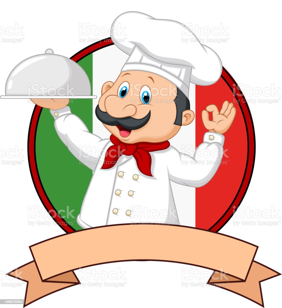 cartoon funny italian chef cartoon holding platter with ok italian pizza chef clipart italian chef clipart black and white