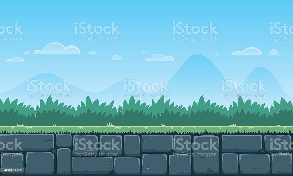 Cartoon Game Background vector art illustration